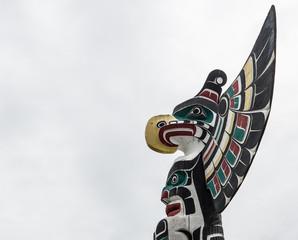Totem pole in Duncan British Columbia