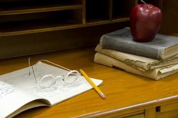 vintage teacher's school desk