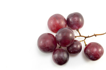 Fresh red grape isolated