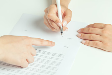 rental contract signing