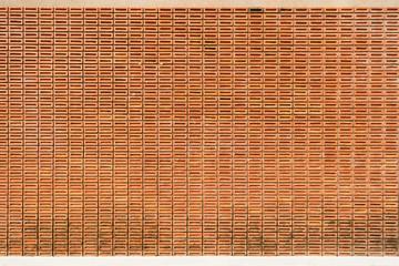 orange brick wall background texture