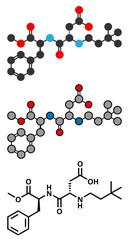 Neotame (E961) sugar substitute molecule.