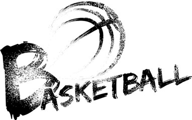 Basketball Grunge Streaks