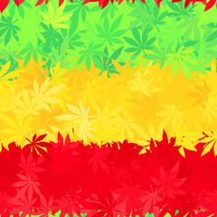 Ethiopia flag seamless pattern. Jamaica reggae music vector