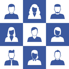 People profile silhouettes