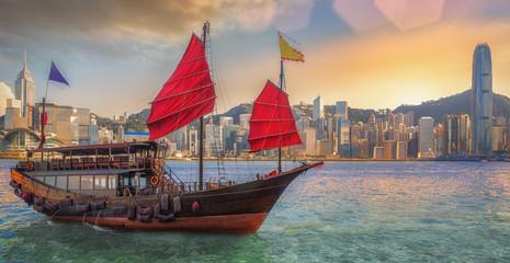 Hongkong harbor Fotomurales