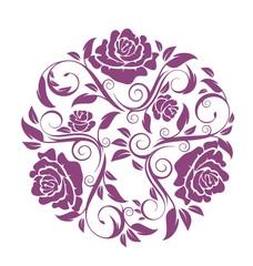 Винтаж из веток роз