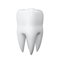 3d illustration of a tooth on a white background