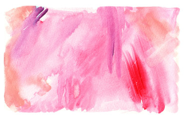 pink rectangular watercolor abstract spot/ vector illustration