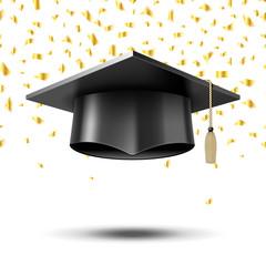 Graduation cap, education concept background