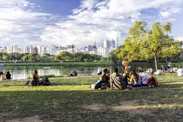 Ibirapuera Park in Sao Paulo, Brazil.