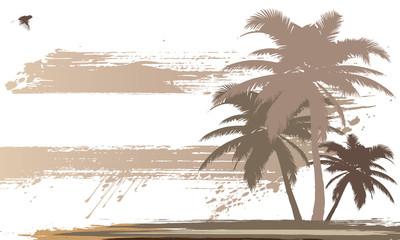 Tropical Island | Urlaub | Karte mit Textfreiraum