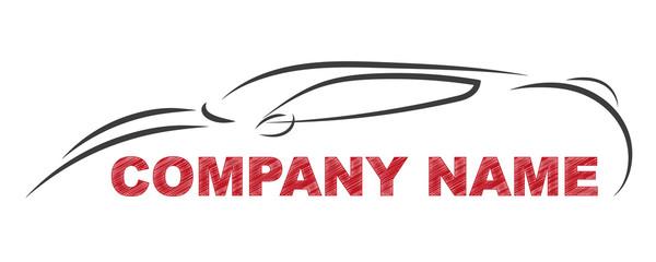 Gezeichnetes Sportauto   Logo