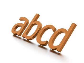 Alphabet concept rendered on white background