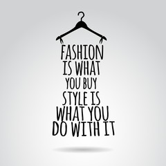 Inspirational quotation about style. Vector art.