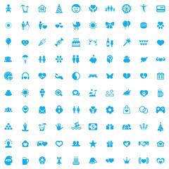 happiness 100 icons universal set