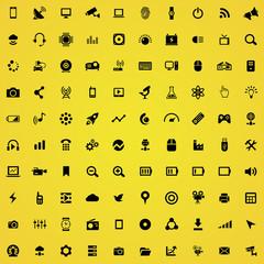 hi-tech 100 icons universal set