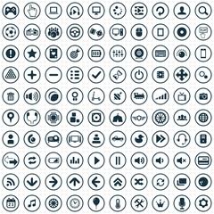 game 100 icons universal set