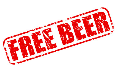 Free Beer red stamp text