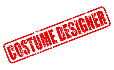 Costume Designer red stamp text