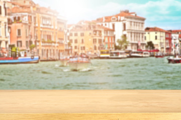 background of venice and sun light