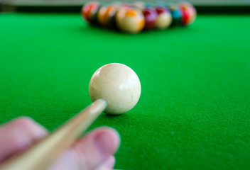 Wall Mural - Billiard balls