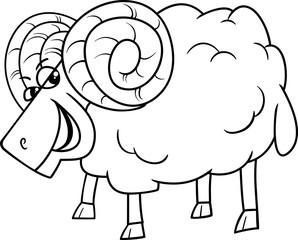 ram farm animal coloring book