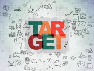 Finance concept: Target on Digital Paper background