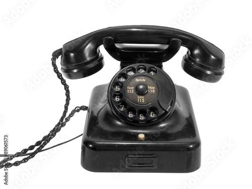 altes telefon mit w hlscheibe immagini e fotografie royalty free su file 89061573. Black Bedroom Furniture Sets. Home Design Ideas