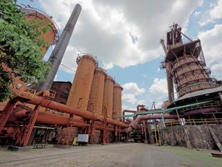 Stillgelegtes Stahlwerk