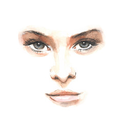 beauty face 1. Vector illustration