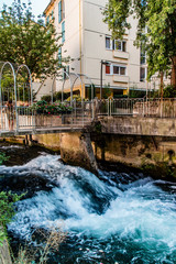 La Gère et le quai Anatol France à Vienne en Isère
