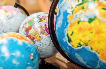 Fototapeta Classroom globes obraz