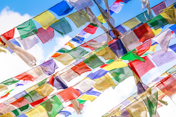 Colorful nepalese flags