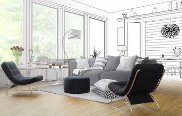 Im Wohnzimmer (Entwurf)