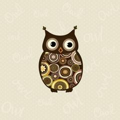 Cute stylized owl