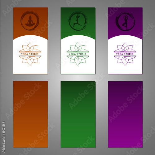 Quot Yoga Brochure Flyer Design Vector Editable Template For