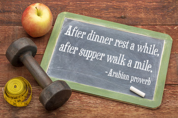 Arabic proverb related to healthy living