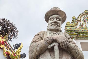 Stone carving at Wat Pho,Thailand.