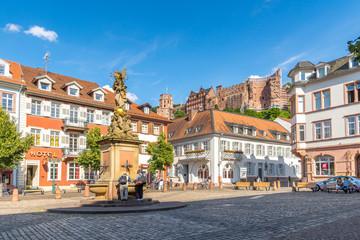 Kornmarkt mit Blick auf das Schloss, Heidelberg