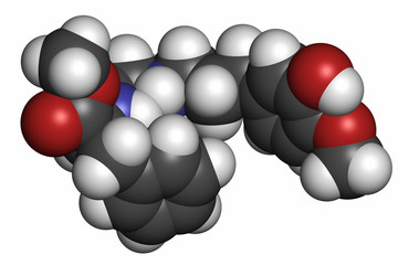 Advantame (E969) sugar substitute molecule.