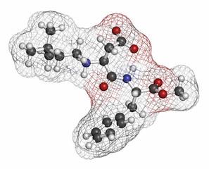 Neotame (E961) sugar substitute molecule