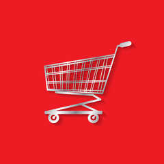 cart on red