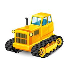 Orange tractor.