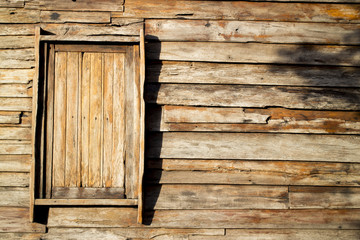 wood background with some windows