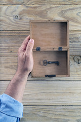 Open box and key