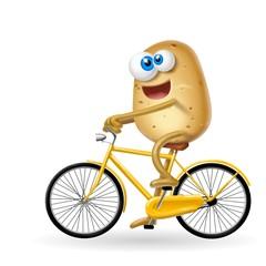 Fototapete - patata in bici