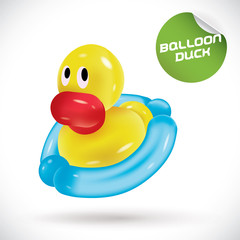 Glossy Balloon Duck Illustration