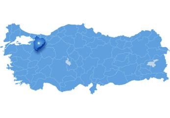 Map of Turkey, Bilecik