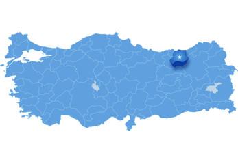 Map of Turkey, Bayburt